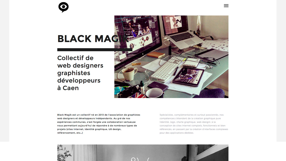 TONY-OHEIX-Webmaster-Webdesigner-Caen-Dernier-projet-24 black magik