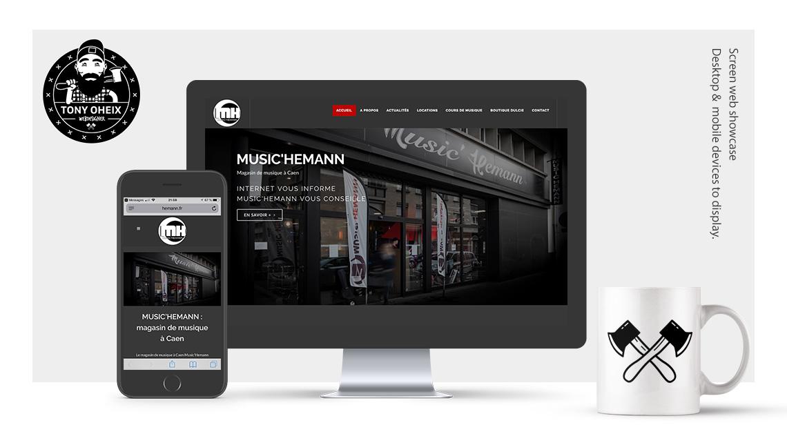 music 39 hemann cr ation de site internet caen tony oheix webmaster. Black Bedroom Furniture Sets. Home Design Ideas